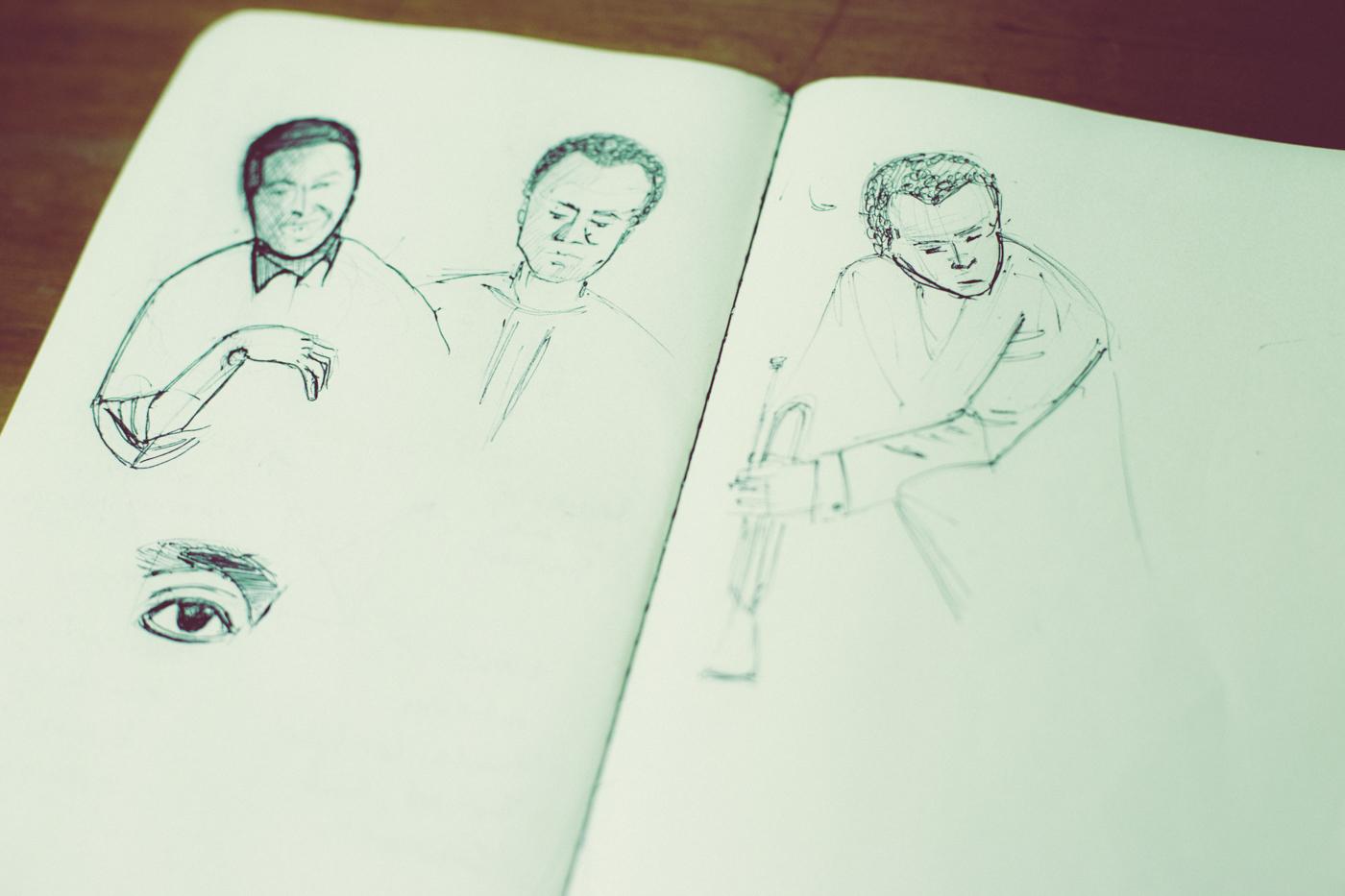 Miles Davis Sketch